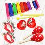 【PChome 24h購物】 【美佳音樂】奧福打擊樂器/兒童樂器 6件組(含袋)-粉紅 DMAFD9-A9006FLFT