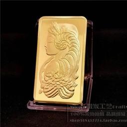 紀條011  1oz美女鍍金紀念幣章外國鍍金條塊