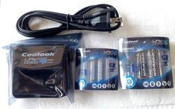 超級特價香港coolook 磷酸鋰鐵/鐵鋰 3號 4號3.2V充電鋰電池數碼相機套裝(送3號和4號占位桶各2個)