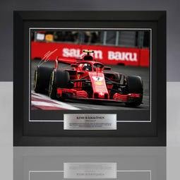 (代訂) [限量] 2018年 Kimi Raikkonen Ferrari法拉利F1車隊 簽名相框組 (附證書)