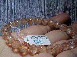 天然超七金草莓晶手鍊手珠手排手串手環7.7/15.71g水晶珠寶玉石寶石首飾飾品
