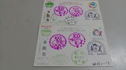 【流動郵幣世界】83年6月23日國際奧林匹克委員會成立百周年特展(貼整套實寄片)(906)郵政博物館參觀卷(明信片)