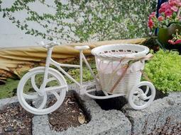 希望森林【。白色腳踏車】輕巧好搭~原價99~出清只要89