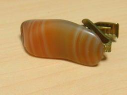 p84【晶玉石】罕見絕版1960年代古董金屬領帶夾領夾~窄版領帶專用~一元起標