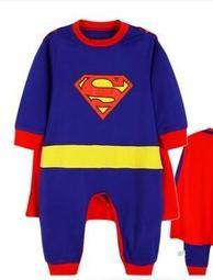 嬰兒連體服-超人造型秋季長袖兒童外出造型