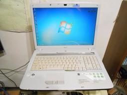Acer ASPIRE 7720 17吋 雙核大筆電 【外觀佳、雙硬碟設計、堅固耐用】