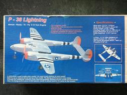 港都RC P-38 Lightning 木製蒙皮 P38(油電版)