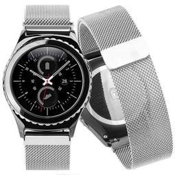 錶帶屋 16mm 18mm 20mm 22mm快拆免工具適用華為MK S2 S3等各款智慧錶不銹鋼米蘭帶磁吸錶帶鋼帶