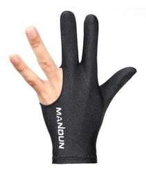 全新MANDUN黑色3指撞球手套