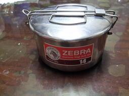 ZEBRA斑馬牌304不鏽鋼14cm圓形便當盒三個含運600(雙層兩個,單層一個)