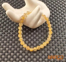 髮晶手串 002 金髮晶 手珠 手飾 手鍊 串珠 招財 天然水晶 特價