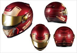 台中皇欣!!正日本 OGK 出品全罩可掀式安全帽(汽水帽) AFFID  IRON MAN 鋼鐵人~戰爭機器!免運費!