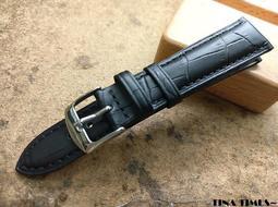 TINA TIMES~ 艾菲爾專業脕計配件 鱷魚壓紋短版專業錶帶 台灣本土製作 小骨架最專業的選擇