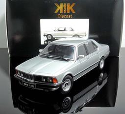 【MASH-2館】現貨特價 KK scale 1/18 BMW 733i E23 1977 silver