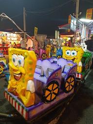 海綿寶寶遊樂拉車(含拉車軌道) 出租.夜市.遊樂場 可參考