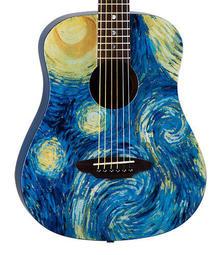 LUNA SAF STR 梵谷 星空 旅行吉他 超值六件組 美國吉他大廠 LUNA GUITARS 36吋