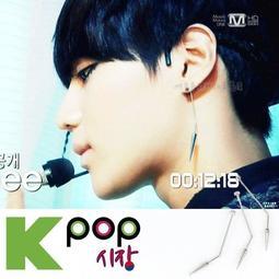 K-POP明星事務所。韓國스터프耳飾 正韓ASMAMA官方正品 SHINee 泰民 同款簡約長彎桿鈦鋼尖錐耳環(單只價)