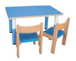 【新款可調歐式長方桌】桌子、安親桌、課桌椅、幼稚園、托兒所