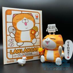 (莫古里 免運費)現貨 LINE原創貼圖 GREAT SUNWAY B.U組裝模型 白爛貓 爛爛