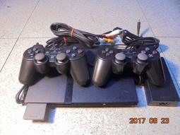 PS2主機改機直讀+原廠震動手把x2+8M記憶卡+線材 改機不挑片 直購價3000元 桃園《蝦米小鋪》