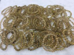 天然黃髮晶手珠 (鈦晶手珠)