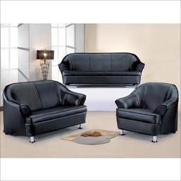 【在地人傢俱】18 甜甜購-701型黑色/酒紅1+2+3沙發-整組 HT254-1