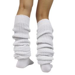 愛襪甜心【A-490】日本JK制服學院風❤純白色超長寬鬆針織純棉大象襪/泡泡襪/堆堆襪(40~180公分)