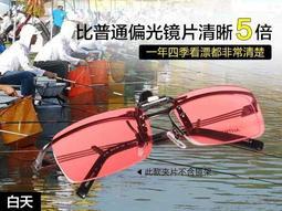 戶外休閒運動釣魚眼鏡夾鏡片