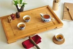 【茶嶺古道】孟宗竹 平板茶盤(大中小) 泡茶盤 / 簡約款 接排水口 輕巧攜帶 竹茶盤