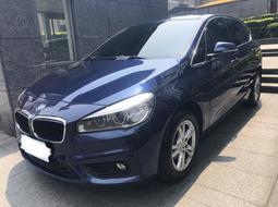 BMW 寶馬 218D 柴油 Active Tourer 2016出廠 藍色 *只跑1萬km* 車美價優 請速洽!