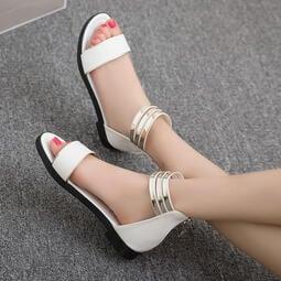 【台灣現貨 附發票】平底涼鞋 後拉鍊女涼鞋 女鞋  休閒鞋  拖鞋 涼拖鞋 正常版型 編號618