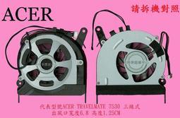 宏碁 Acer TravelMate TM7230 TM7530 TM7630 TM7730 筆電散熱風扇 TM7530