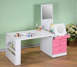 臻愛 折疊式 和室 化妝 掀鏡 書桌 RT-3010 粉紅色