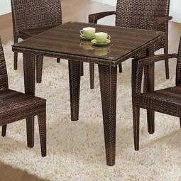 【在地人傢俱】19 便宜購-315籐編織2.6尺藤餐桌/休閒方桌/戶外桌~含玻 SH834-3