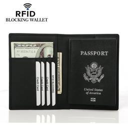 【現貨免等】全黑防消磁頭層牛皮護照夾 護照包【CBAA0431】