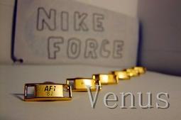 NIKE AIR FORCE 18K 25周年 鞋扣  鞋牌 潮流 非adidas