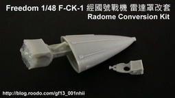 Freedom 1/48 經國號戰機 IDF 雷達罩改套 (A/B/C/D 各型皆可適用)