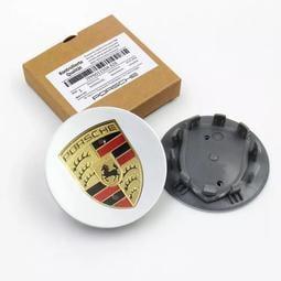 PORSCHE 原廠圈 規格 輪圈蓋 專用于保時捷改裝汽車輪毂蓋panamera卡宴彩標 macan 65mm 76mm
