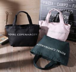 【現貨 日雜附錄 Royal Copenhagen Tote bag 手提包 手提包 便當袋 收納袋 粉色 黑色