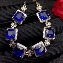 新款上架,精品藍寶石手鍊出貨,精品皇家藍,高淨度,滿火彩