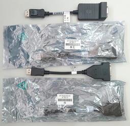 DELL/HP DP to DVI/VGA D-SUB 轉接線481409-001/481408-002/OKKMYD