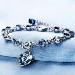 水晶手鍊十二星座手鍊女韓版學生心形手鐲生日禮物