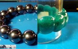(兩件一標)鈦赫茲手珠12mm (保證可融冰)+天河石手排(招正財 貴人運)
