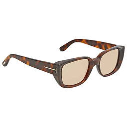 22f5b5d6a4  換日線 男太陽眼鏡Tom Ford Brown Rectangular Sunglasses FT0492 52E FT0492