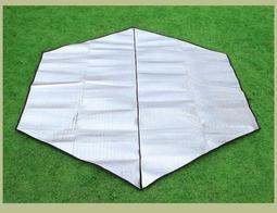 【寶貝屋】雙面鋁箔帳篷防水六角防潮墊/野餐墊/睡墊/地墊/戶外超大加寬墊子