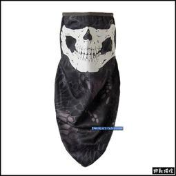 【野戰搖滾-生存遊戲】夜光骷髏三角巾面罩、圍巾【黑色蟒蛇紋迷彩】黑蟒面罩骷髏面罩騎車口罩自行車登山重機頭巾頭套圍巾