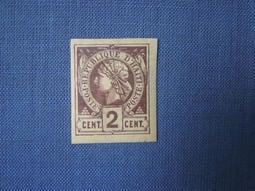 海地1881年代「首套郵票-自由神祉」2分-