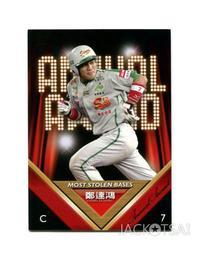 【2011上市】中華職棒21年球員卡 年度獎項卡#227盜壘王-興農牛 鄭達鴻(義大犀牛)