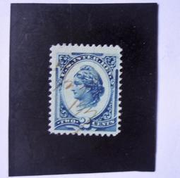美國1875年代「古典稅票-自由女神」1全--