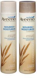 【蓋亞美舖】Aveeno 小麥蛋白滋養強化洗髮精 / 潤髮乳 311ml 乾性受損髮 美國進口